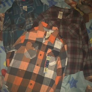 Lot of 3 Flannel Shirts, Size XS (4/5)